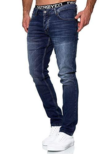 MERISH Jeans Herren Slim Fit Jeanshose Stretch Designer Hose Denim 503 (33-32, 503-3 Dunkelblau)