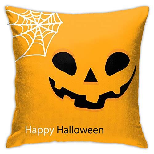NOTZERO Pumpkin face Print Pillow Case-Soft Throw Pillow Covers Sofa Decor 18 x 18 in for Home Decor Design Cushion Cover Bedroom Car