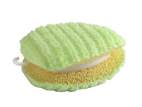 サンコー 洗濯用品 泥汚れ ブラシ 洗濯ブラシ ちょこっと洗濯 スポンジ 両面 握りやすい びっくりフレッシュ グリーン 日本製 BO-82