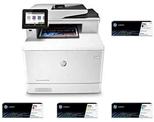 HP Color Laserjet Pro Multifunction M479fdw Wireless Laser Printer (W1A80A) with High Yield 4 Color-Toner-Cartridges. Buy it now for 1475.46