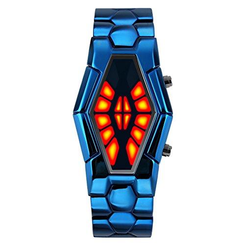 Personalisierte Herrenuhr/Sport-Mode-Coole Jungs Outdoor wasserdicht Uhren/LEDBi-Color-Licht-Show ansehen-D