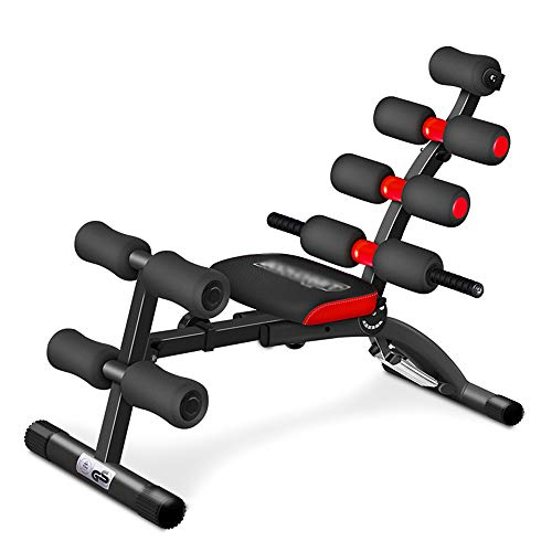 KKDWJ Einstellbare Folding Hantelbank, Bauchtrainer Übung Chair Home Training Gym Gewichtheben Sit Up Ab Bench Wohnung Neigung Decline Multiuse Workout Bench, Max 150kg