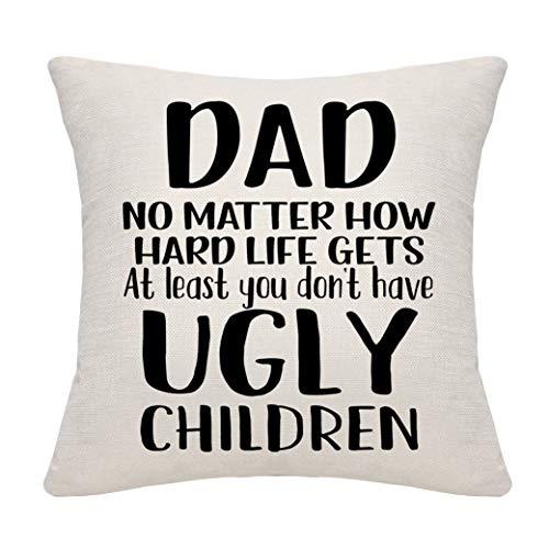 DANKHRA Funda de almohada de cobre para papá, para cumpleaños, padre, papá, papá, Acción de Gracias, Navidad, Día del Padre