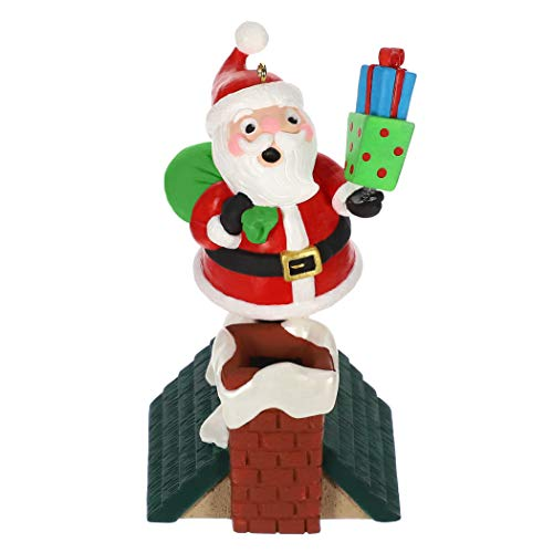 Hallmark Keepsake Christmas Ornament 2019 Year Dated Walk The Line Santa Musical (Plays Song)
