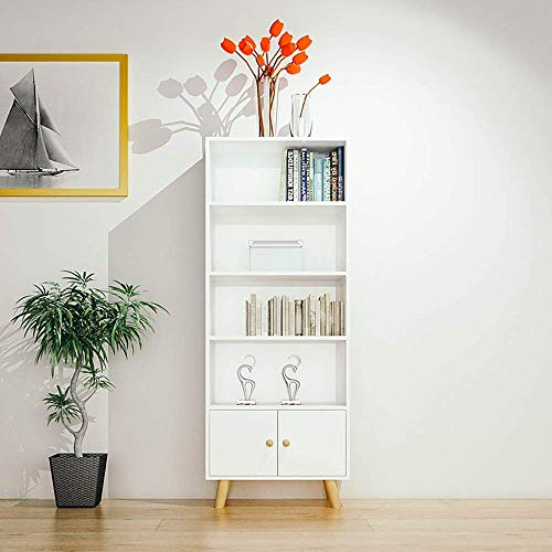 COLiJOL Sujetalibros Estantería Estantería Universal de 5 Niveles Estantería de Pie para Sala de Estar Oficina para Estantería de Oficina en Casa (Color: A, Tamaño: Talla Única),B,Talla Única