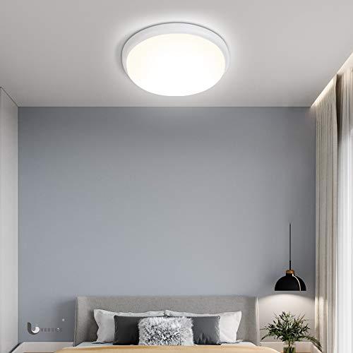 OEEGOO - Lampada da soffitto a 4 LED, 18 W, 1440 lm, IP54, impermeabile, 4000 K, per ambienti umidi, per bagno, camera da letto, soggiorno, camera dei bambini, corridoio, cantina, balcone, diametro 23,7 cm