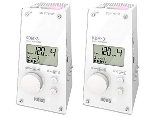【まとめ買い】KORG コルグ - デジタルメトロノーム KDM-3 WH ホワイト 2個セット