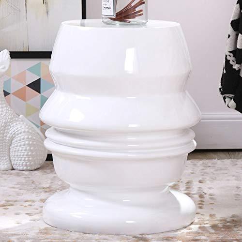 GYXZM Taburete De Jardín Taburete De Ceramica para Salón O Jardin - Mesa De Ceramica Color Blanco
