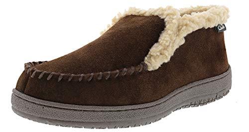 Clarks Men's Andrew Indoor Outdoor Faux Fur Slippers (12 M US, Brown Suede)