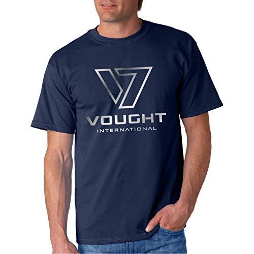 V 7 International Metalic Foil - Camiseta Manga Corta (Azul Marino, M)