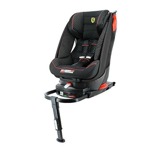 Seggiolino auto Ferrari inclinabile gruppo 1(9kg a 18kg) Base Isofix–4stelle ai test TCS–Protezione laterali
