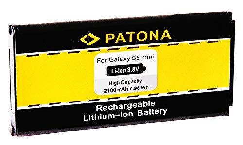 PATONA™ Batteria EB-BG8000 Compatibile con Samsung Galaxy S5 Mini DX Neo SM-G800F SM-G800H SM-G800R4 SM-G800Y