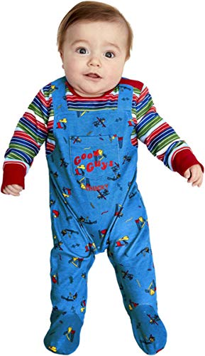 Smiffys Chucky Baby Costume Blue & Red Baby Age 3-6m