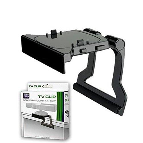 JINHEZO JINHEZO-CS-370 for Xbox 360 Kinect Sensor Mounting Clip TV Mounting Clip Black 1Pcs