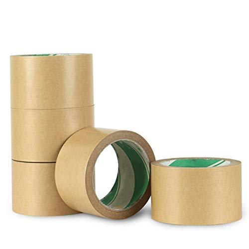 SXYULQQZ Kraft Papier Tape Milieu Bescherming Tape 5 Rollen 60mmX20Y Ongeveer 18,3 Meter Afdichtingspakket Verpakking Tape ondoorzichtige Tape