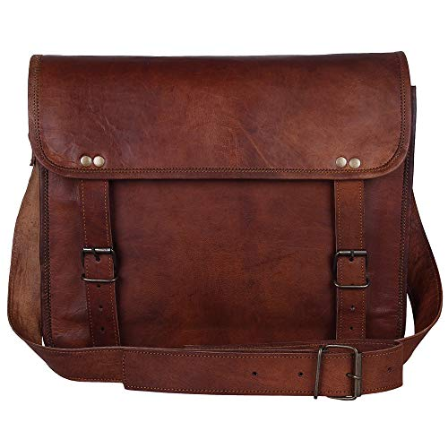13' Handmade Leather Messenger Bag Satchel Leather Laptop Bag By Rustic Town