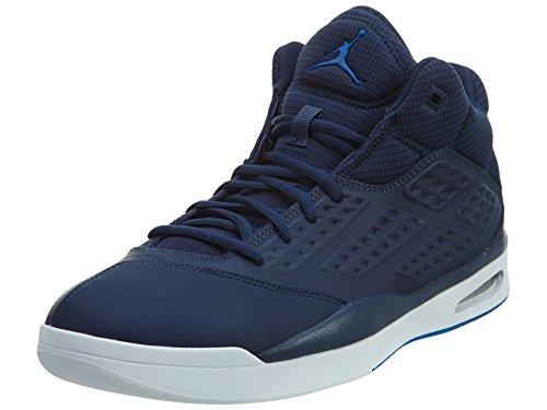 Nike Herren Jordan New School Fitnessschuhe, Blau/Weiß (Midnight Navy/Soar-White), 43 EU