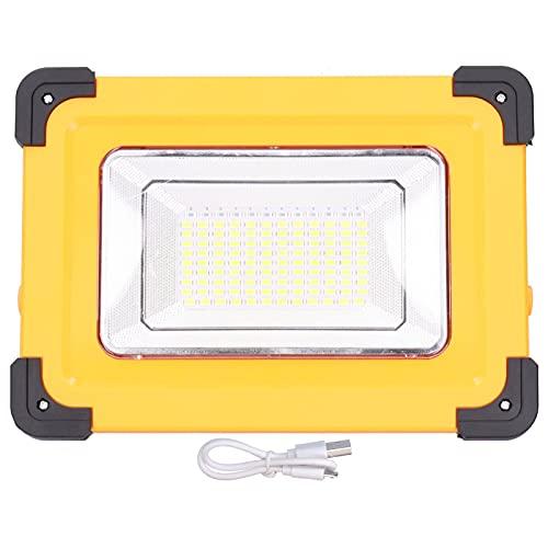 Lámpara de trabajo 120LED Luz de trabajo 5000LM Luz de inundación solar portátil IP65 Impermeable para acampar Senderismo