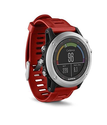 Garmin Fénix 3 - Reloj estándar Multideporte con GPS diseñado para Resistir, Color Rojo (Reacondicionado)