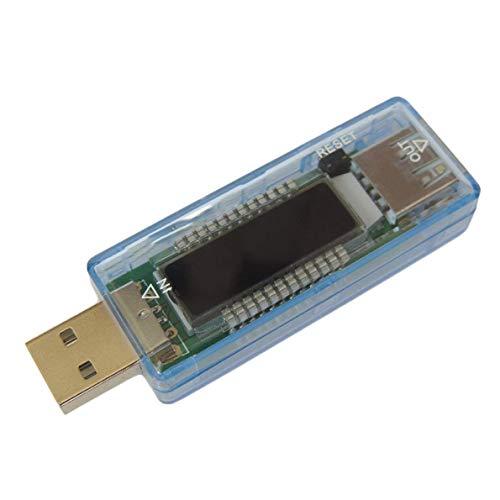 ARCELI Detector USB Voltímetro Amperímetro Capacidad de Potencia Probador Medidor Voltaje Corriente Potencia móvil Cargador USB KWS-V21