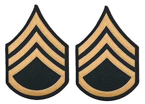 SSG E-6, Large blue chevron, Army ASU & Blue Mess uniform