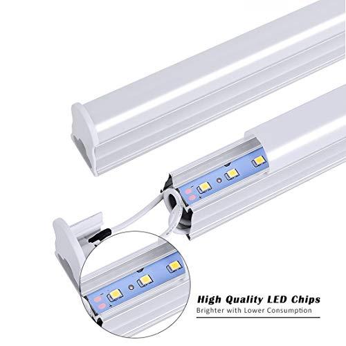 2 Pack 14W Leuchtstoffröhre LED T5 LED Lichtleiste 90cm 1200lm 3000k Warmweiß LED Tube Leuchtstoffröhre Wasserdicht IP20 für Garage Schrank Wohnzimmer Schlafzimmer Flur Bürobeleuchtung