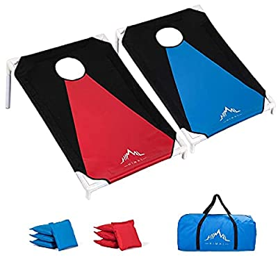 Himal Portable Assemble PVC Framed Corn Hole Outdoor Game Set with 8 Bean Bags and Carrying Case (3 x 2-feet) by Himal Outdoors