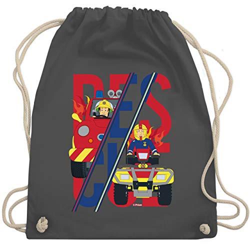Shirtracer Feuerwehrmann Sam Tasche - Rescue Sam Merkur Venus - Unisize - Dunkelgrau - Geschenk - WM110 - Turnbeutel und Stoffbeutel aus Baumwolle