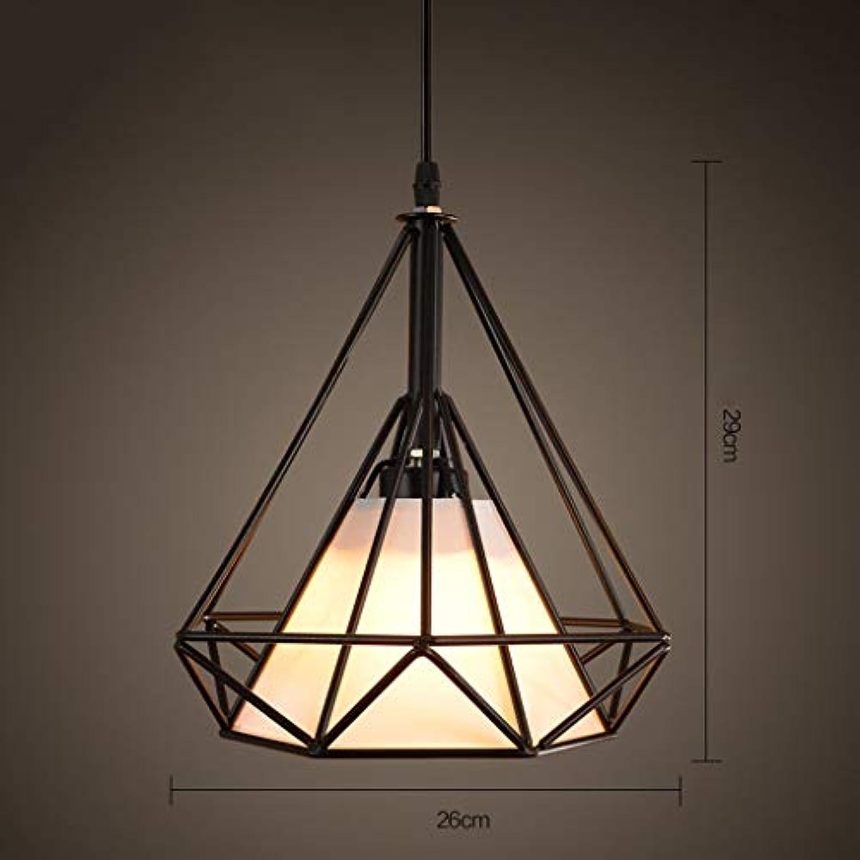 WENYAO Die Erntezeit Retro Kreative Diamant Kronleuchter Eisen Nostalgie Lampen -E27 (Farbe  A)