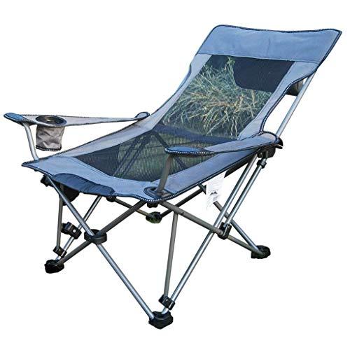 Silla plegable camping al aire libre de malla transpirable ligero Silla sólido portátil for picnic barbacoa Beach Alquiler aijia (Color : Multicolored)
