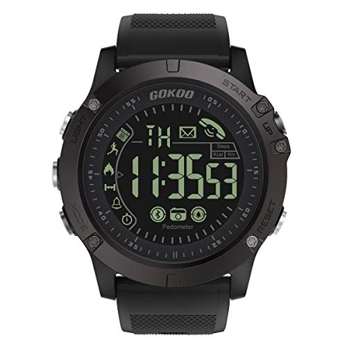 Smartwatch Sportivi Uomo, GOKOO Orologio Intelligente Uomo Orologi Sportivi Uomo Impermeabile IP67 per Sport e Tempo Libero con Contapassi, Contacalorie, Cronometro Compatibile con iOS e Android