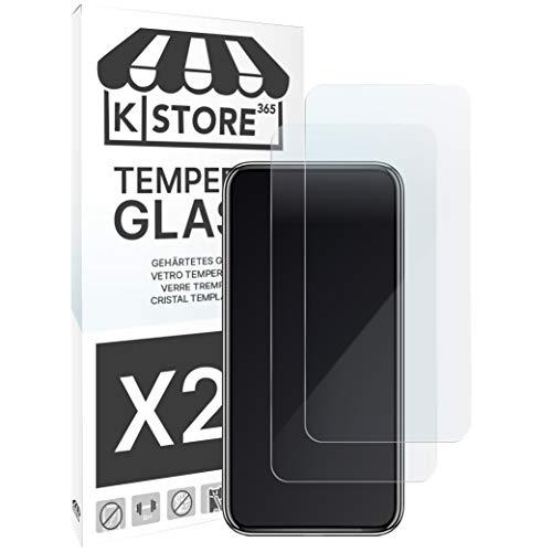 KSTORE365 2 Piezas, Cristal Templado para Xiaomi Mi 9 T   9 T Pro, 9H Dureza, Protector De Pantalla, Vidrio Templado, Adhesivo En Todo El Cristal, 2.5D Borde Redondeado para Xiaomi Mi 9 T   9 T Pro