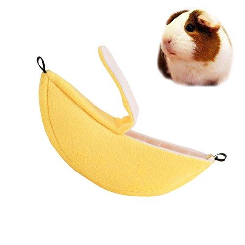 ueetek Banana Nest Pouch Sleeping Bags Bettwäsche gemütliche Warm Haus Käfig für Haustiere Galesaur Hamster Guinea Pig Chinchilla (Größe: ca. 20x 6x 6cm)
