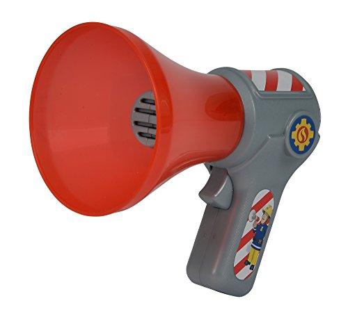 Simba 109258699 - Feuerwehrmann Sam Feuerwehr Megaphon / Mit Stimmenverzerrer-Funktion / 16cm