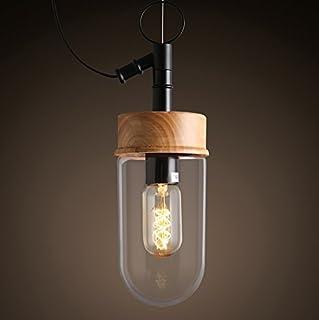 Art Lamp Light Bulb Solid Wood Chandeliers Bar Decorative Lights