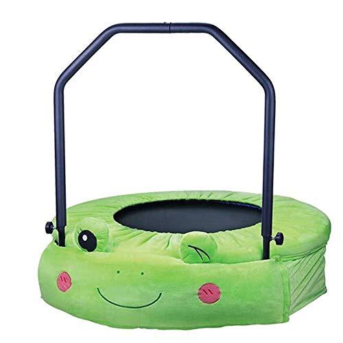 LY Mini Trampolines 38 Inch Schattig Vouwen fitness voor Kinderen| Rustige en veilige bounce | Huishoudelijke springmat voor Training Workout Oefening