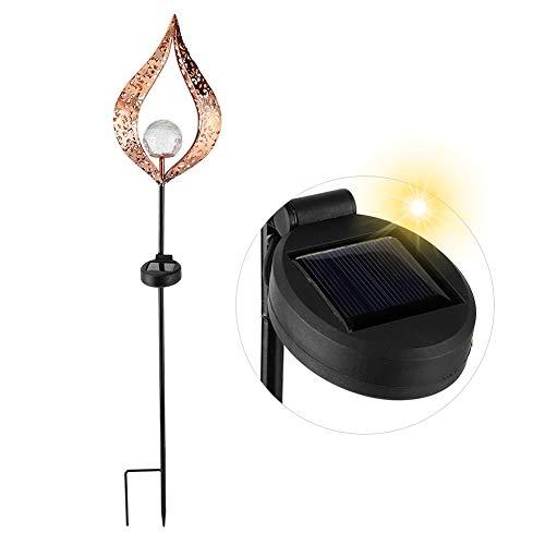 ?  ?Redxiao LED soldrivna trädgårdslampor, utomhus solljus hjärta ?Formad krackelglasklot infälld lampa ihålig för trädgård gångväg gräsmatta innergård