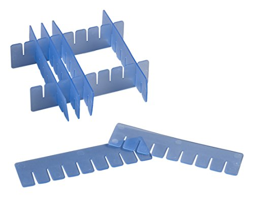 Camlab plastica, RTP/72701-DB-Scatola con divisori, altezza regolabile, colore: blu (confezione da 16)