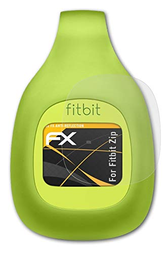 atFoliX Panzerfolie kompatibel mit Fitbit Zip Schutzfolie, entspiegelnde & stoßdämpfende FX Folie (3X)