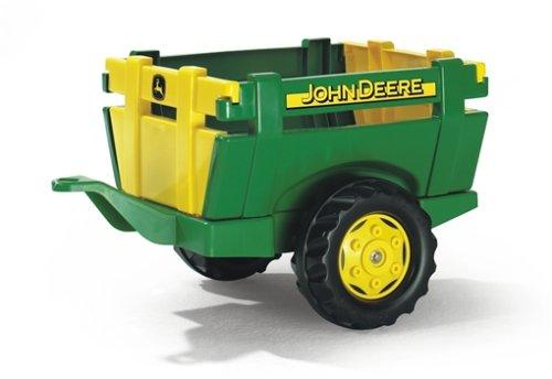 Rolly Toys 122103 - rollyFarm Trailer John Deere, Einachsanhänger, Traktoranhänger mit Heckklappe, Alter 2,5 - 10 Jahre