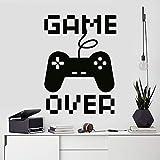 sanzangtang Videospiel Aufkleber Spieler Wandaufkleber Controller Spiel Aufkleber Geschenk Junge Aufkleber Spieler 63x87cm
