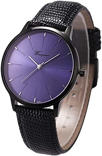 XiangRuiDa Reloj analógico de Pulsera de Cuarzo para Hombres Pantalla de Fecha Ultra Delgada del Calendario en la Banda de Reloj de Cuero Suave de 3 O-Navy Blue Dail Beautiful