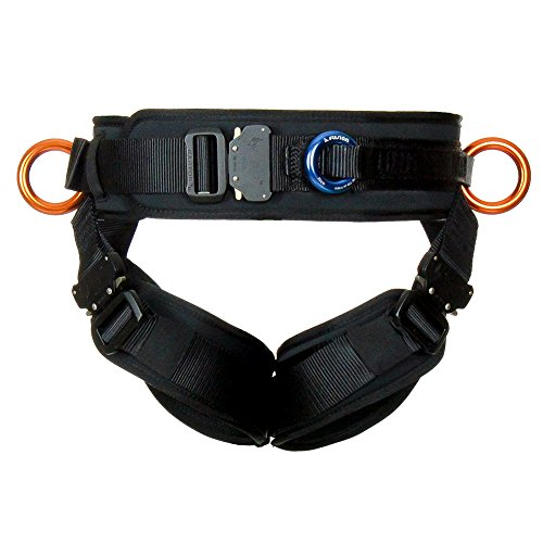 Fusion Climb BD Revolution Pro Workout Buckle Adjustable Half Body Harness USA Made Small Black, one Size