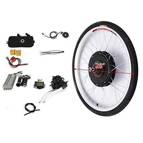 OU BEST CHOOSE - Kit de conversión para Bicicleta eléctrica de 28', Motor Trasero con Pantalla LCD