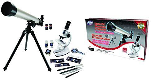 Eastcolight Microscope & Telescope Deluxe Set | 2-in-1 Beginner's Science Set
