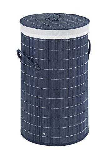 WENKO Wäschetruhe: Bambus, Wäschesack: 100 % Baumwolle, Rahmen: 100 % Polyester