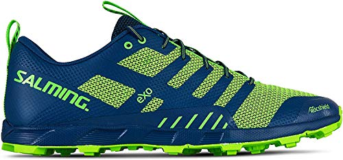 commercial Sports shoes Salming Men Off Trail Competition (OT Comp), Poseidon Blue / Safety Yellow, 9.5 salming running shoes