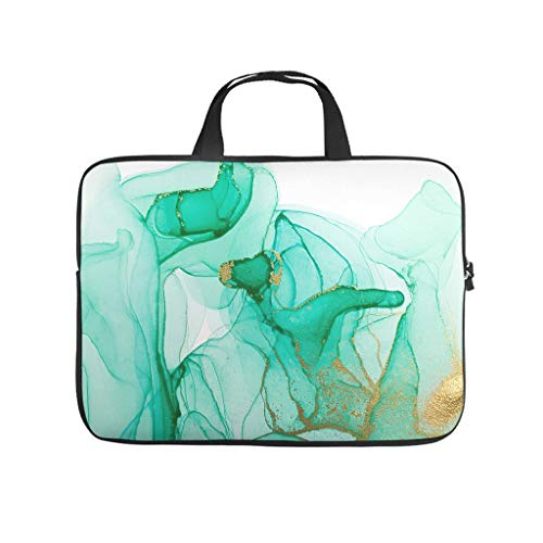 Laptop Bag Magic Marbling Wear-resistant Slim -Laptop Bag Compatible with 13-15.6 inch Notebook white 12 zoll