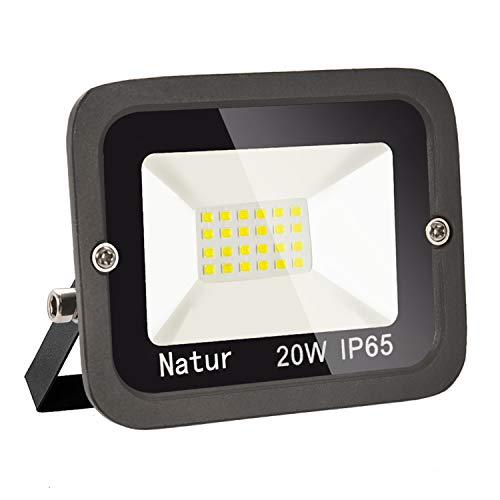 bapro Faretto 20W Fari LED per Esterno 3000K Bianco Caldo Proiettore Moda Leggero, Faro Impermeabile IP65 per Giardino Cortile, Lampada Luce Potente Super Luminosa [Classe Energetica A++]…