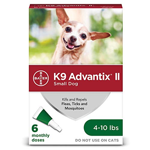 K9 Advantix II Flea and Tick Prevention for Small Dogs 6-Doses, 4-10 Pounds